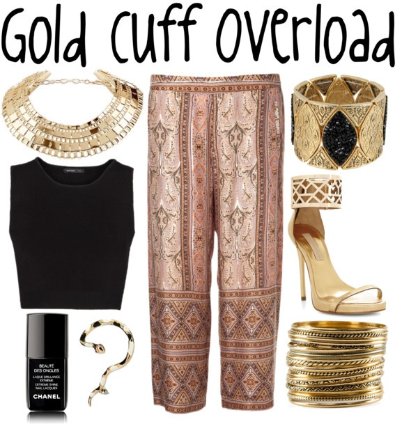 """Gold Cuff Overload"" by michelleanned on Polyvore"