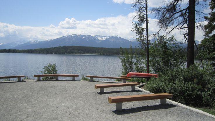 Wedding Ceremony Site - Pyramid Lake Resort in Jasper AB