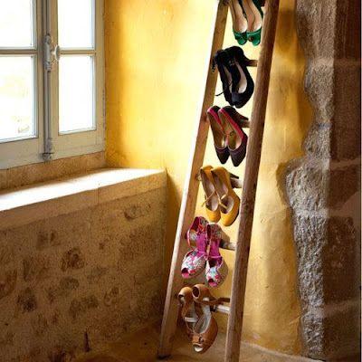dada paints her life: Riciclare vecchie scale di legno