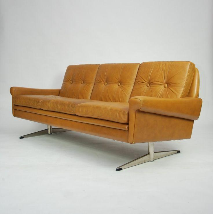 Dreipunkt Designer Leather Sofa Mustard Yellow Two Seat: 1000+ Ideas About Yellow Leather Sofas On Pinterest