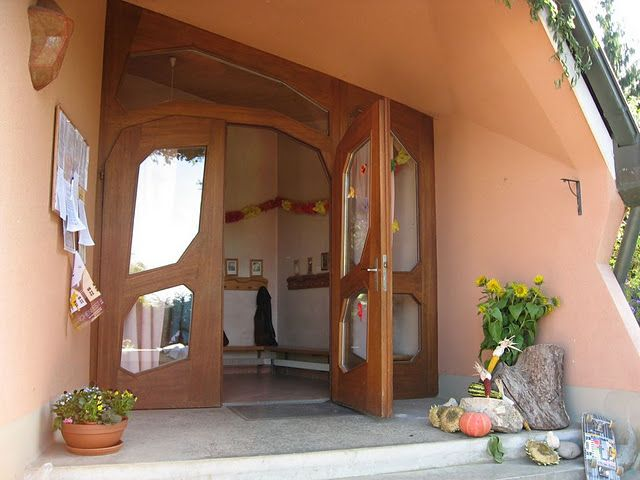 Entrance to Waldorf Classroom, unlike any school I have attended. Cannot wait to send my kids to a Waldorf school.