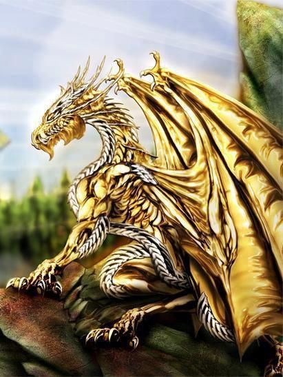 This reminds me of King Ghidorah, except with only one head.  :-)