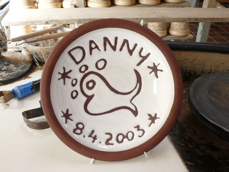Personalised gift by Stephen Pearce Pottery, Shanagarry, Co. Cork.
