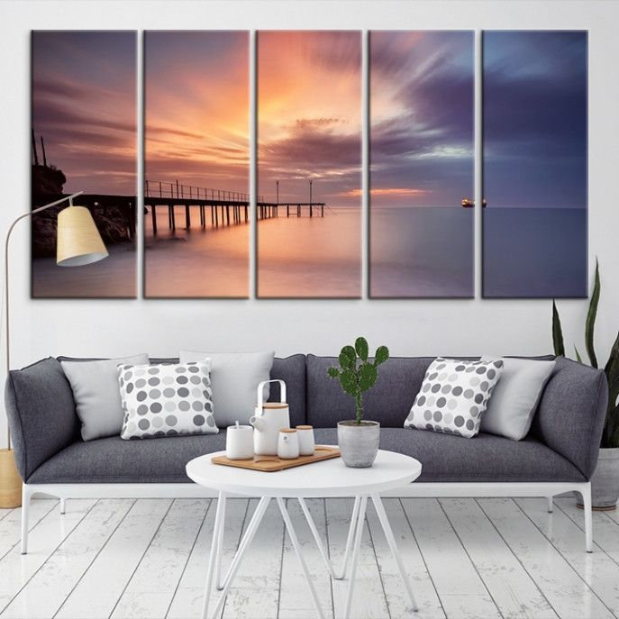 27915 - Sea and Beach Wall Art Large Canvas Print