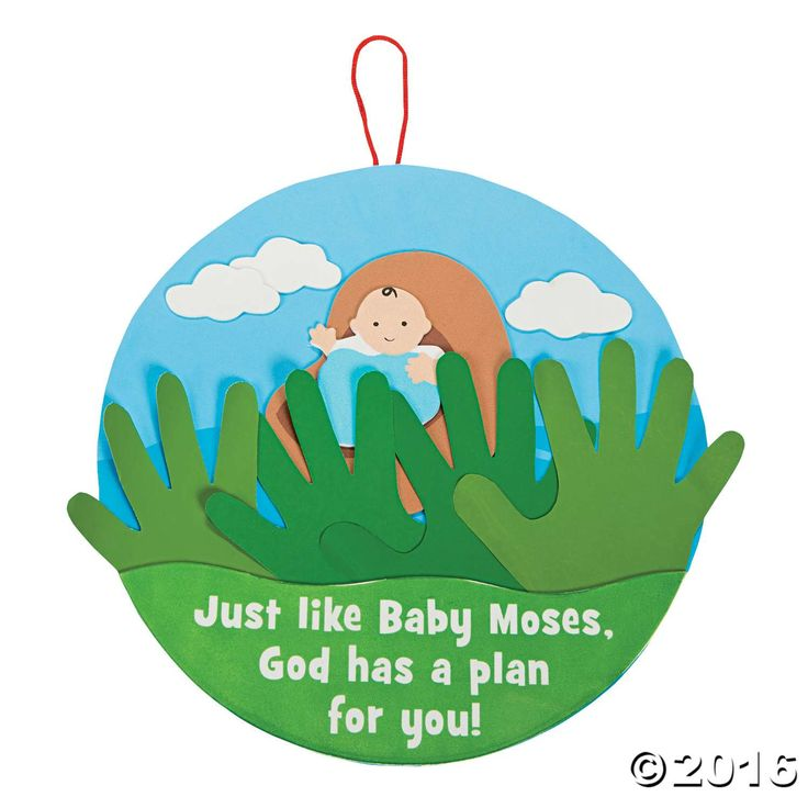 Handprint Baby Moses Sign Craft Kit