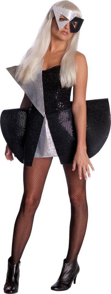 Disfraz de Lady Gaga™ para mujer. Disponible en www.vegaoo.es: Sequins Costumes, Halloween Costumes, Adult Costumes, Lady Gaga, Saia Mini-Sequins, Sequins Dresses, Gaga Black, Gaga Sequins, Halloween Ideas