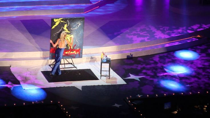 Speed painter at Miss Tennessee 2013 - YouTube
