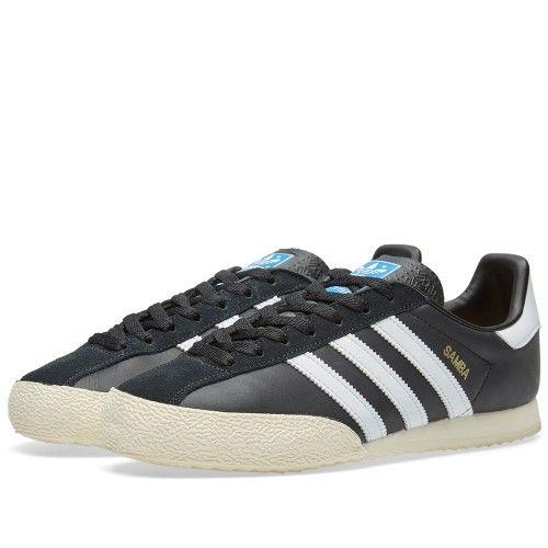 Adidas SPZL Samba (Black, White & Gold)