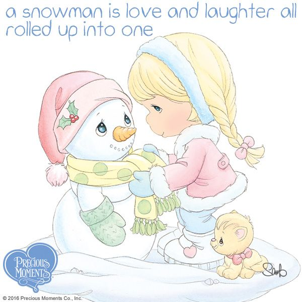 Make outdoor fun a priority this winter and laugh those winter blues away!  #PreciousMoments #LifesPreciousMoments #Snowman