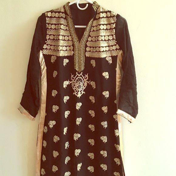 New Indian anarkali dress Brand new Indian salwar kameez dress. Palazzo style pants. Dresses Maxi