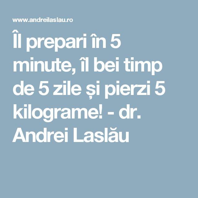 Îl prepari în 5 minute, îl bei timp de 5 zile și pierzi 5 kilograme! - dr. Andrei Laslău