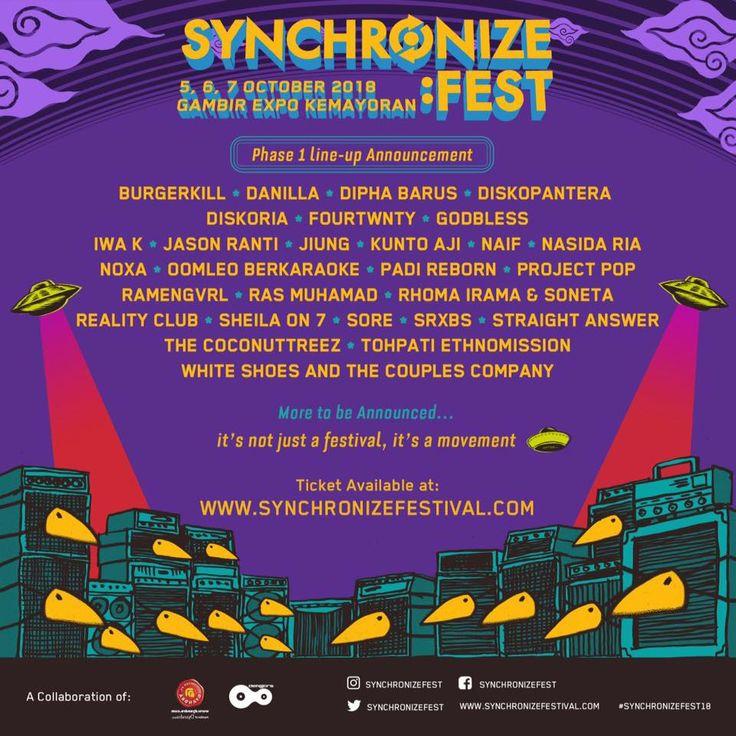 Synchronize Fest 2018 Umumkan Line Up Fase Pertama  #demajors #dyandra promosindo #festival musik #synchronize est #synchronize fest 2018 #synchronize festival #News