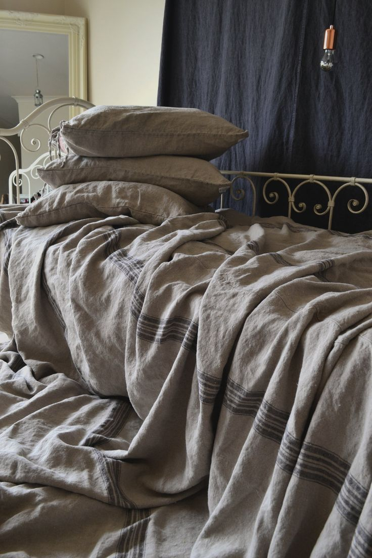 Vintage Grainsack pesante biancheria da letto, copriletto / Quilt / coperta estiva. Misure: 250x270cm / Letto king size: 270x300cm