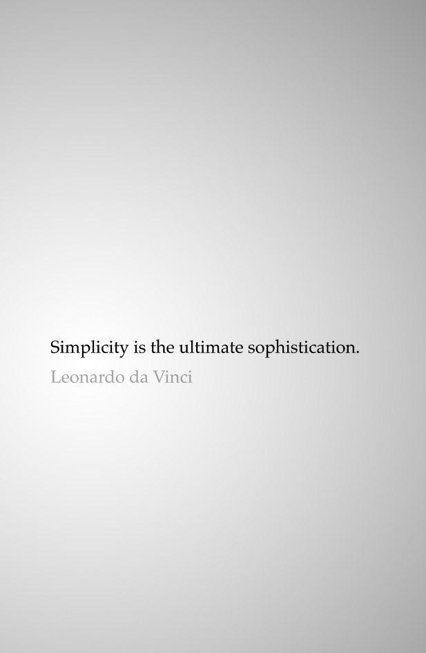 "Printable Quote Art - ""Simplicity is the ultimate sophistication."" - Leonardo da Vinci"