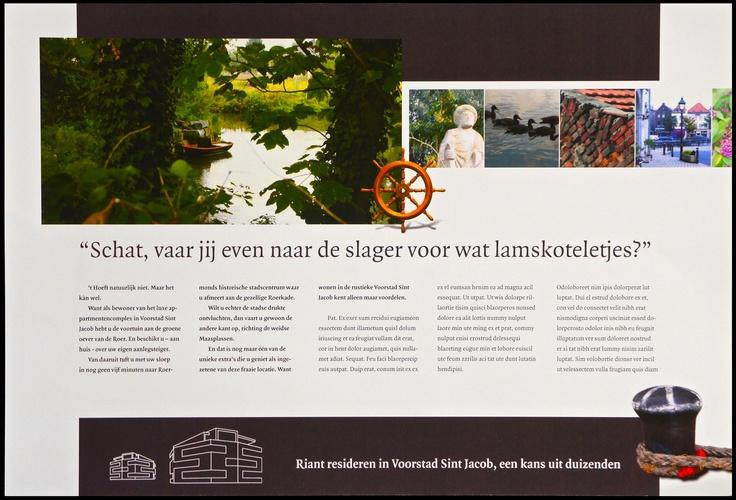 """Client: 3HoogDesign (art). Account: Aannemer van nieuw prestigieus wooncomplex in 't romantische """"Voorstad Sint Jacob"""" (Roemond) - Pitch. (cp+cy+foto """"bootje"""") ad. 1/5 """"Schat"""""""