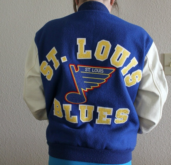 Vintage St Louis Blues NHL Hockey Jacket Chalk by That70sShoppe, $95.00