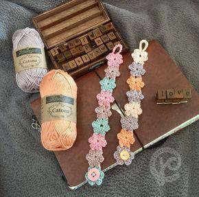 Kijk wat ik gevonden heb op Freubelweb.nl: een gratis haakpatroon van Jellina Creations om dit mooie bloemenarmbandje te maken https://www.freubelweb.nl/freubel-zelf/gratis-haakpatroon-bloemenarmbandje/