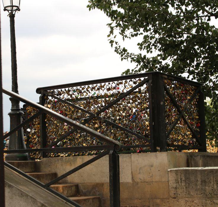 Paris padlock bridge