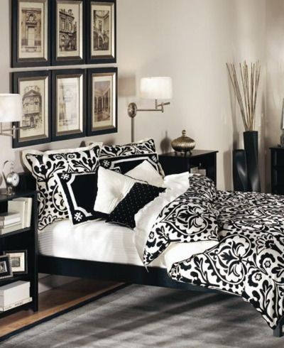 Traditional Black And White Bedroom That Inspire