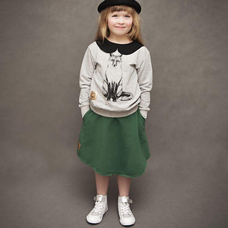 kids  MIDI skirt by WataCukrowa