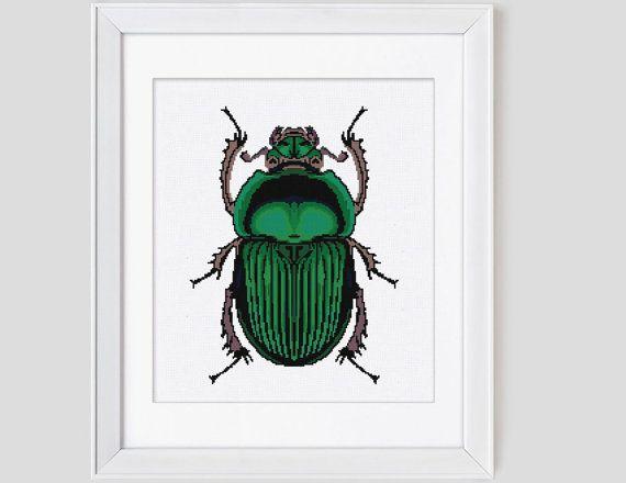 Beetle - Leaf blown designs - cross stitch pattern - Etsy $11