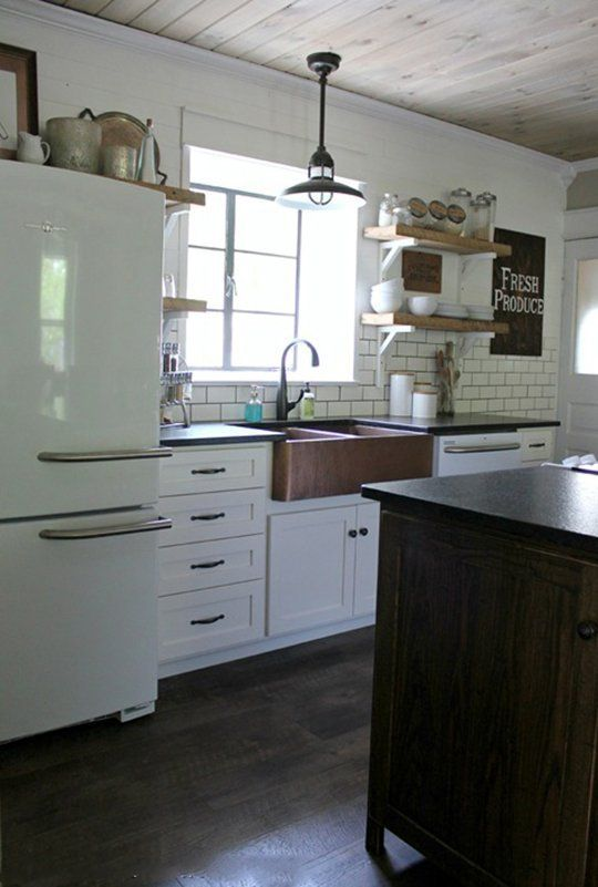 white cabinets & appliances // Before & After: 1902 Victorian Gets a Modern Farmhouse Kitchen — Reader Kitchen Remodel