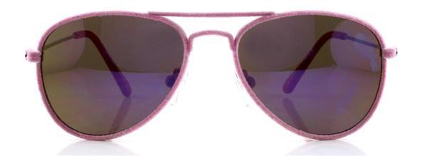 Gafa niño 41 Eyewear - MR. FRAMES JR.  Gafa piloto terciopelo (acabado efecto terciopelo en el frente) en color rosa palo. Terminales rosa flúor mate.