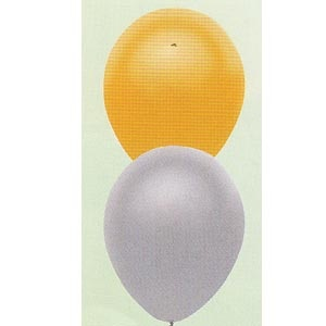 "Partymate 12"" Round Metallic Colours Latex Balloons (10/pkg)"