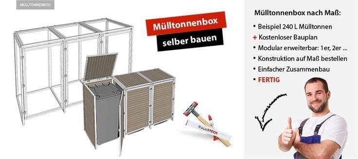 Mülltonnenbox selber bauen Baunleitung – Michael Steinbach – Deutch   Sosyal Penguin