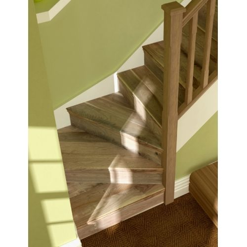 Captivating Walnut Stair Cladding Winder Stair Kit