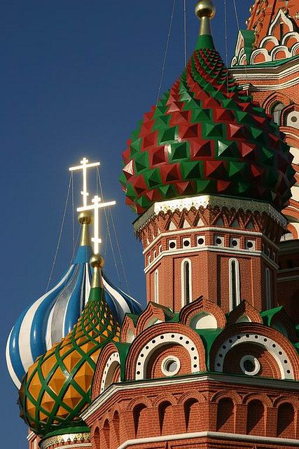 Polychrome Domes of St Basils - Moscow, Russia