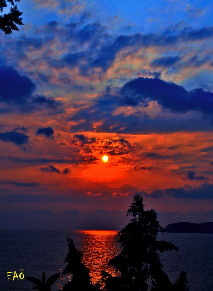 Sunset on Heybeli  -