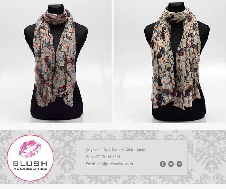 We woman adore our accessories, so spoil your special valentine with a gorgeous owl print scarf from #Blush. #valentinesday #accessories