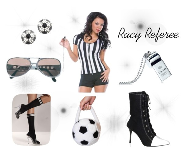 """""""Sexy Sports Referee Costume Set"""" by costumelicious on Polyvore #Soccer #Referee #Costume"""
