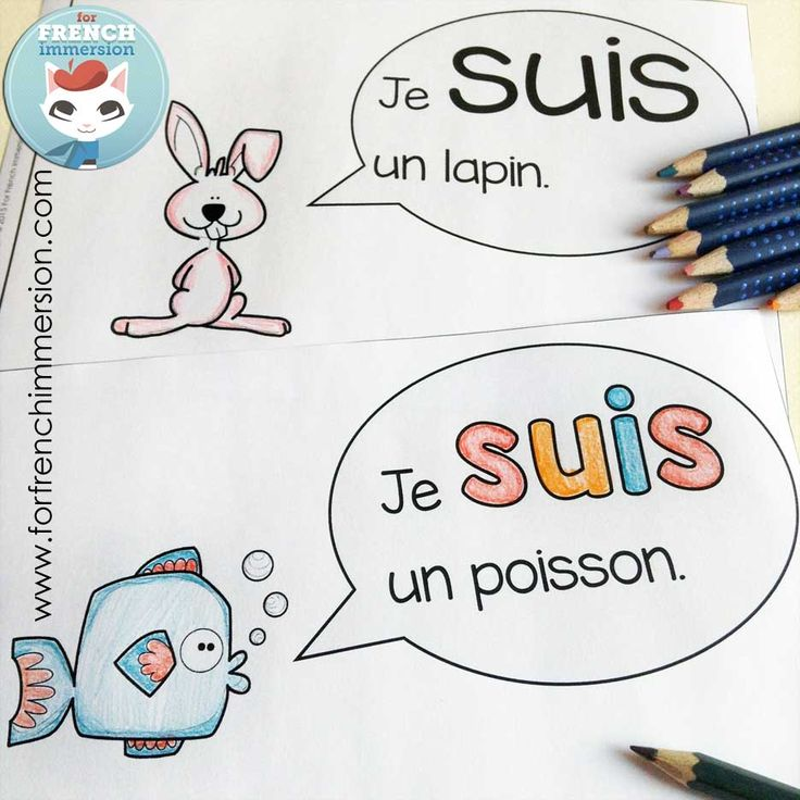 French emergent reader: je SUIS. Reading, writing, cutting and pasting to practice French sight words and improve reading skills.