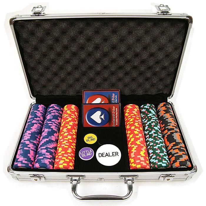 Trademark Commerce TMC-10-PATOP-300S 300 World Tophat & Cane Paulson Clay Chips W/Aluminum Case