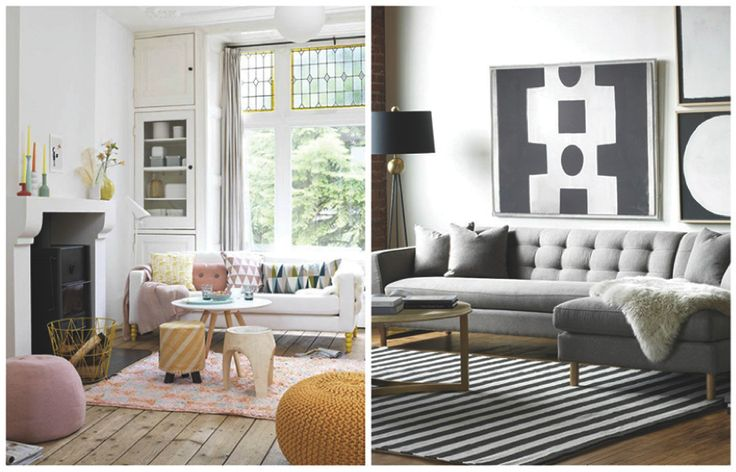 inrichten kamer, kleine kamer, woonkamer inrichten, bank op pootjes   Inspirational Interior