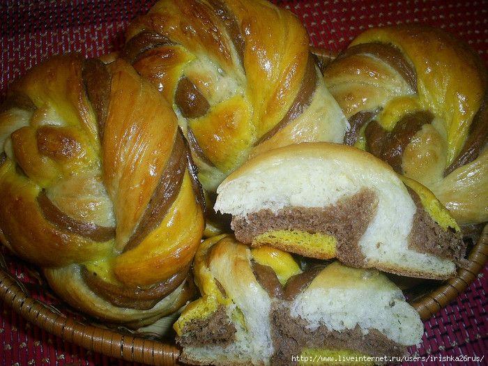 """Красивые и вкусные цветные булочки """"Веселая карусель"""""""