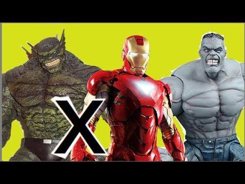Homem de Ferro Iron Man Hulk versus  Abominável Abomination Marvel Selec...