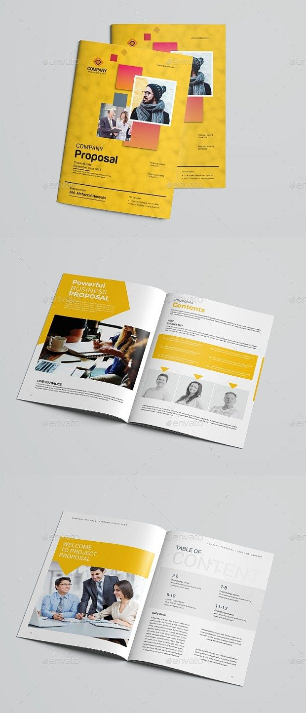 18 Pages Modern Business Proposal Template Photoshop