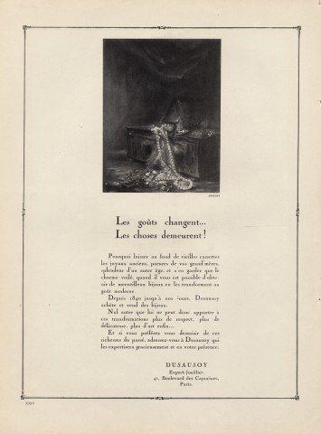 Dusausoy advert, 1924