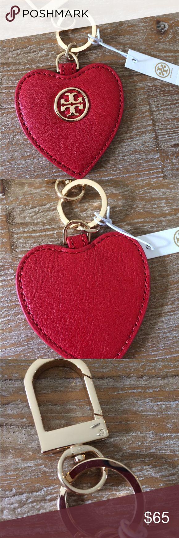 NWT Tory Burch Key Fob NWT Tory Burch Leather Heart ❤️ Key Fob. Ships same day! Tory Burch Accessories Key & Card Holders