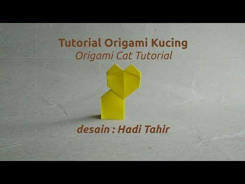 Origami Harri Hadi: Tutorial Origami Kucing Sederhana/ Easy Origami Ca...