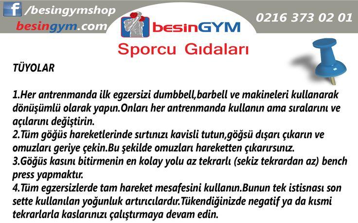 Göğüs antrenmanınız için tüyolar!  www.besingym.com
