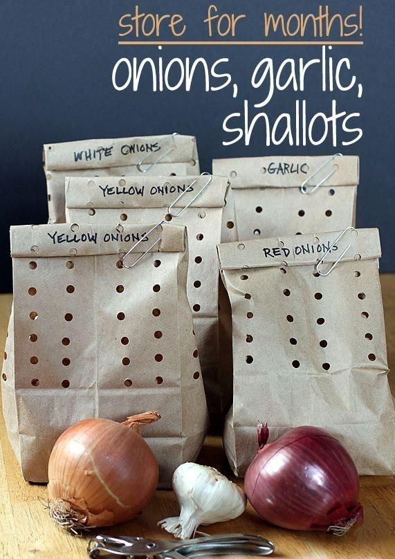 How to store onions, garlic, & shallots. This easy method keeps them fresh for months!