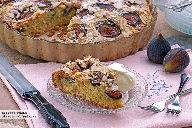 Receta de cake de higos frescos con almendras. Con fotografías del paso a paso, consejos y sugerencias de degustación. Recetas de repostería. Re...