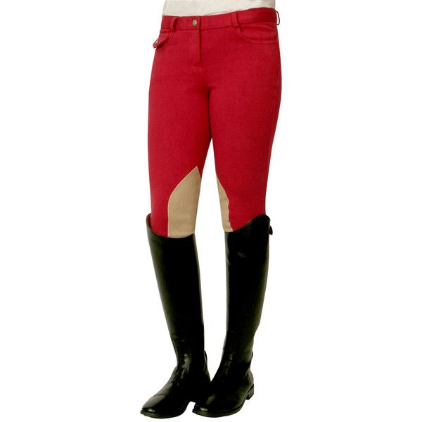 PFIFF breeches with reinforced knee patches ''Liv'' « Riding breeches... ❤ liked on Polyvore
