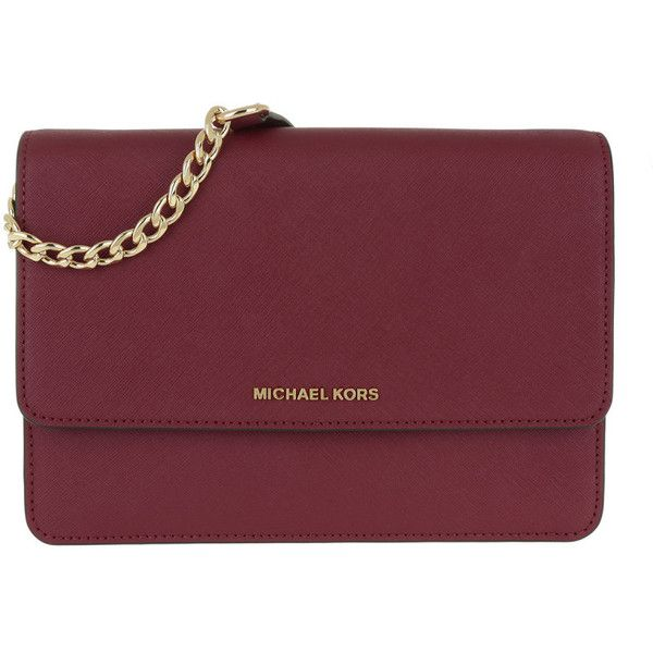 Michael Kors Shoulder Bag - Gusset LG Crossbody Bag Mulberry - in red... ($255) ❤ liked on Polyvore featuring bags, handbags, shoulder bags, red, red hand bags, shoulder tote bags, man shoulder bag, man bag and cross-body handbag