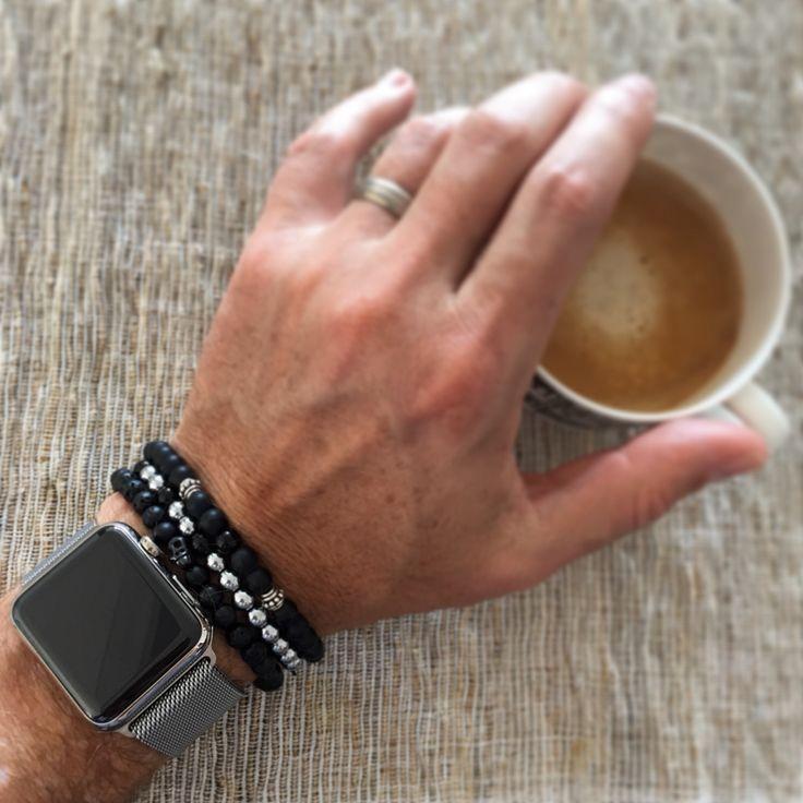 Unisex stacking bracelets