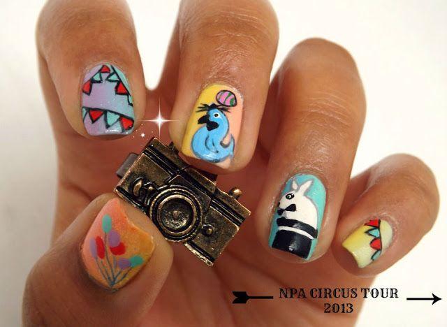 Circus nail art !